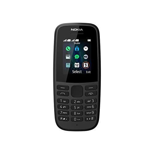 Nokia 105 2019 - Teléfono móvil, Dual Sim, idioma inglés y alemán, Color Negro,...