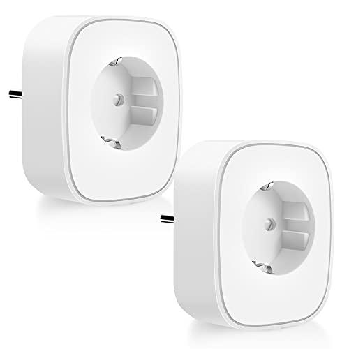 Enchufe Inteligente, 16A 3680W Enchufe WiFi Con Monitor de Energía, Compatible con...