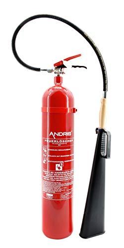 Extintor 5kg Co² dióxido EDV Adecuado DIN EN 3Incluye ANDRIS® certificar...