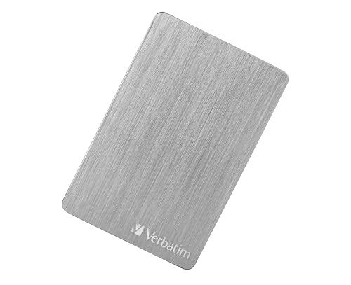 Verbatim Store 'n' Go ALU Slim I 2 TB I Plata I Disco Duro Externo I USB 3.2 Gen 1 I...