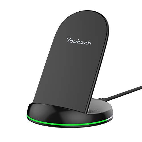yootech Cargador Rápido Inductivo Qi,10W para Galaxy S21/S20/Note 10/S10+/S10E/Note...