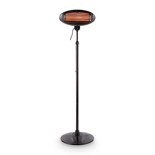 Blumfeldt Shiny Hot Roddy Estufa de terraza - Calefactor de pie Infrarrojo, Radiador...