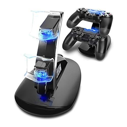 Cargador Mando PS4, Tihokile Dual USB Cargador para Playstation 4 PS4 Pro PS4 Slim...
