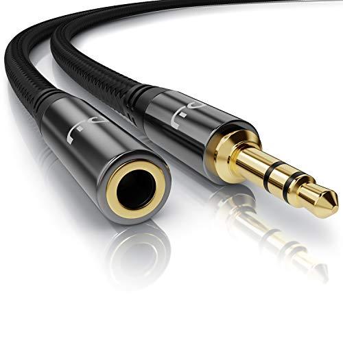 Primewire – 3m - Cable alargador audio AUX - Extensión Jack macho a hembra 3,5mm -...