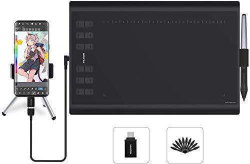HUION H1060P Tableta gráfica con área de Trabajo de 10 x 6.25 Pulgadas con una...