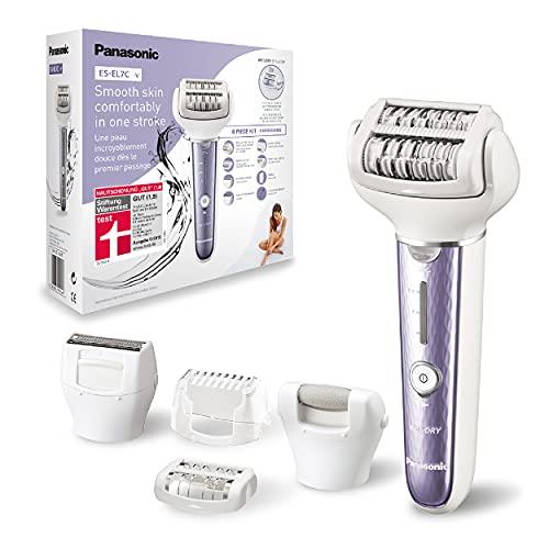 Panasonic Depiladora ES-EL7C 5 en 1 para mujer, depiladora en seco y húmedo, 5...