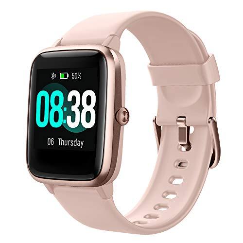 YONMIG Reloj Inteligente Mujer y Hombre, Smartwatch Impermeable IP68 Pulsera...