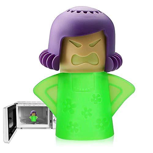 Angry Mama Limpiador de microondas, limpiador a vapor para horno microondas,...