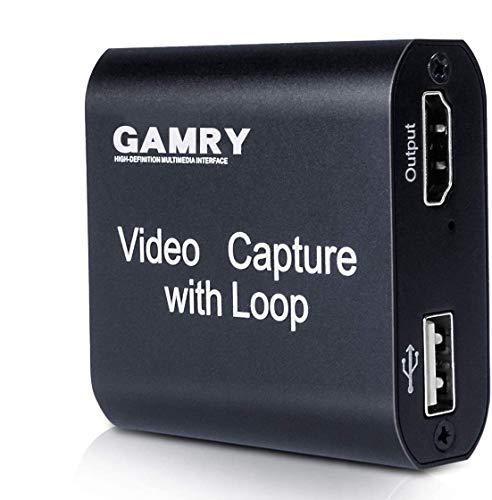 Tarjeta de Captura de Vídeo HDMI con Loop Out, 4K HD 1080P USB 2.0 para Transmisión...