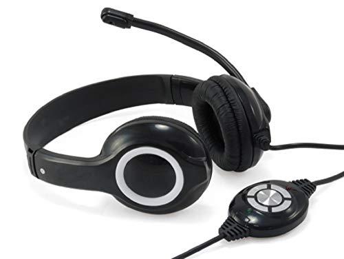 Conceptronic CCHATSTARU2B Binaural Diadema Negro, Rojo - Auriculares con micrófono...