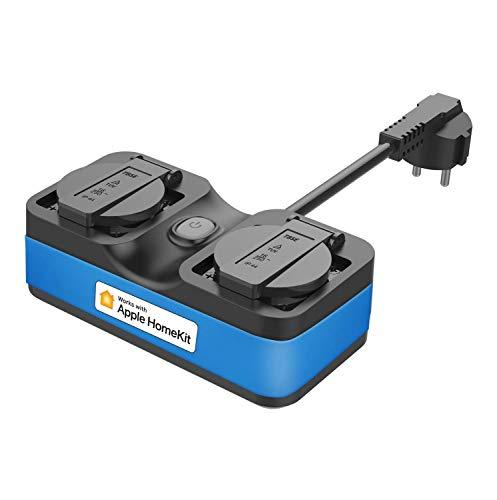 Enchufe Inteligente Wi-Fi, Compatible con Apple HomeKit, meross, Resistente al Agua,...