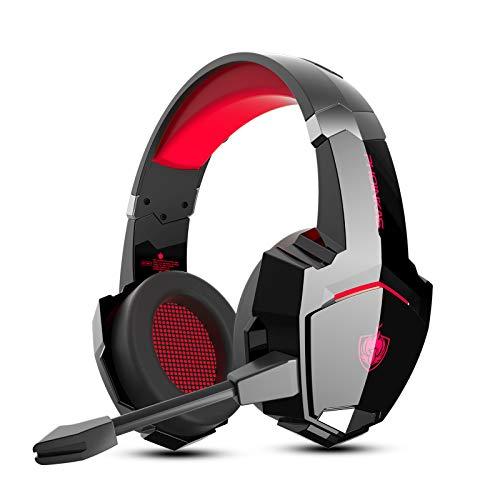 Auriculares PS4, PHOINIKAS Wired Gaming Kopfhörer für Xbox One, PC, Versión...
