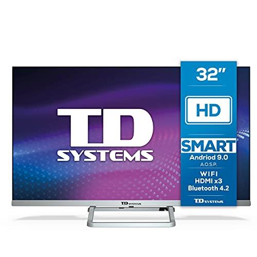 TD Systems K32DLX11HS - Televisor Smart TV 32 Pulgadas Android 9.0 y HBBTV, 800 PCI...
