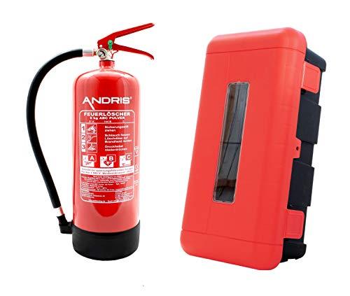 Extintor 6kg ABC de polvo extintor con protección caja de plástico se puede...