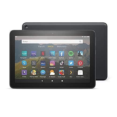 Tablet Fire HD 8, pantalla HD de 8 pulgadas, 32 GB (Negro) - Con publicidad
