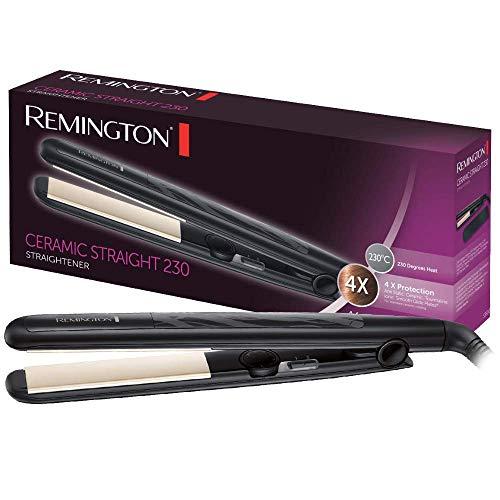 Remington Ceramic Slim Plancha de Pelo - Cerámica Anti-estática, Protección y...