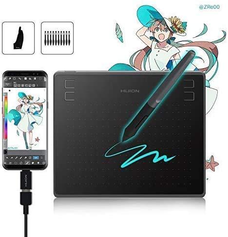 HUION HS64 Tableta Gráfica, Compatible con Sistema operativo Android, Tableta de...