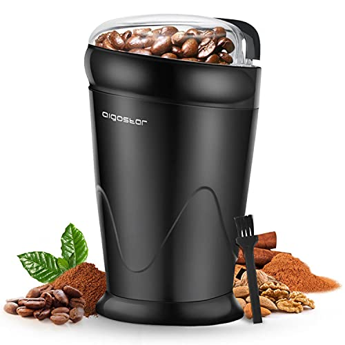 Aigostar Breath 30CFR - Molinillo compacto de café, especias, semillas o granos,...