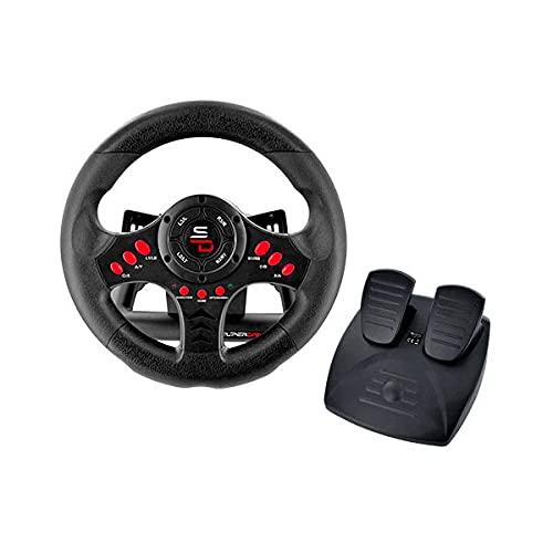 Superdrive - Volante de carreras SV400 con pedales y paletas de cambio para PS4 -...