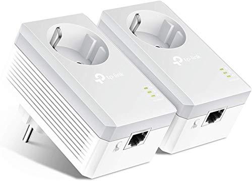 TP-Link TL-PA4010P Kit Powerline con enchufe adicional, AV 600 Mbps en Powerline, 1...