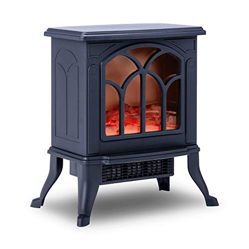 NEWTECK Chimenea Eléctrica Classic Flame, Calefactor Cerámico Termoventilador Llama...