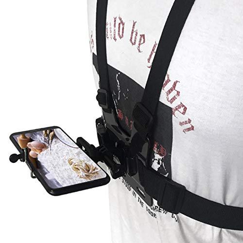 Soporte de pecho para smartphone con adaptador de montaje de acción para smartphone...