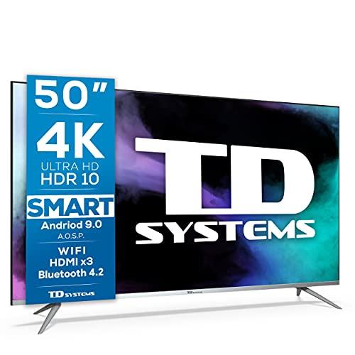 TD Systems K50DLJ12US - Televisores Smart TV 50 Pulgadas 4k UHD Android 9.0 y HBBTV,...