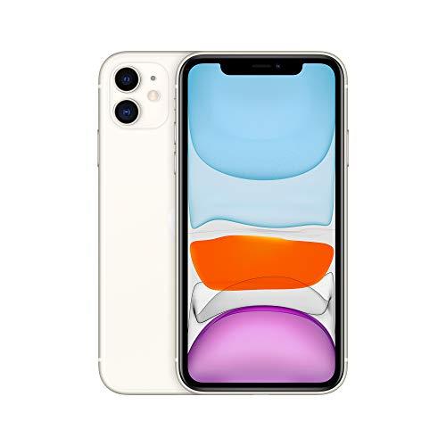 Apple iPhone 11 (64GB) - Blanco (Incluye Earpods, Adaptador de Corriente)