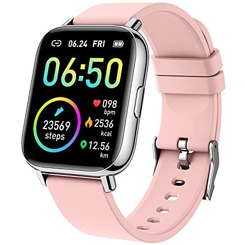 Smartwatch, 1.69' Reloj Inteligente Mujer Impermeable IP68 Pulsera Actividad 24 Modos...