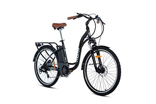 Moma Bikes Bicicleta Electrica E26.2 Aluminio, SHIMANO 7V, Frenos de disco...
