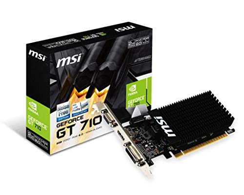 MSI V809-2000R NVIDIA GeForce GT 710 2GB - Tarjeta gráfica (Pasivo, LP/ATX, NVIDIA,...