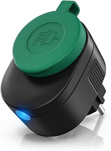 Bearware - Enchufe inteligente exterior - Toma WiFi inalámbrica - Monitor de...