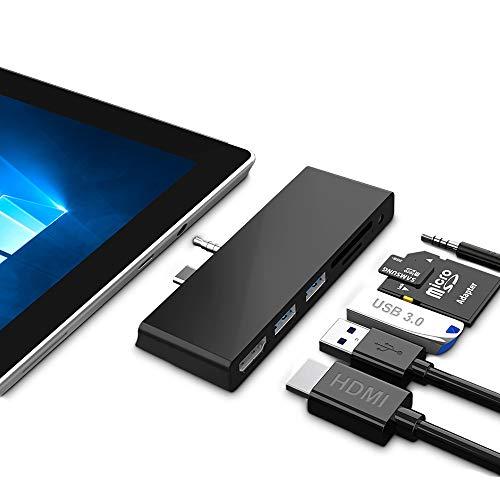 Microsoft Surface Go Dock para Surface Go/Go 2, estación de acoplamiento 6 en 2 Hub...