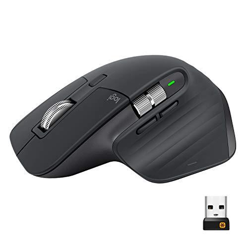 Logitech MX Master 3 Advanced Ratón Inalámbrico, Receptor USB, Bluetooth, 2.4GHz,...
