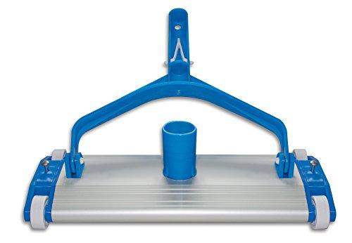 Productos QP 500340C Limpiafondos Metálico, Limpiador Manual de Piscinas, Cepillo de...