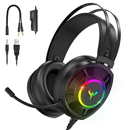 Blade Hawks Auriculares Gaming, Auriculares para Juegos con Sonido Envolvente, Efecto...