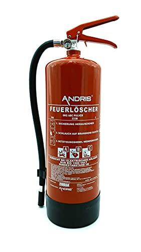 Vertrieb Andris Brandschutz - Extintor de Incendios (Polvo ABC, 6 kg, con manómetro,...
