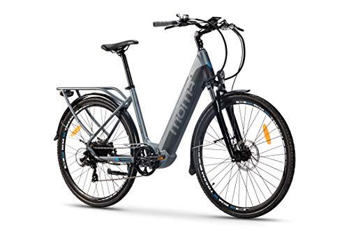 Moma Bikes Bicicleta Eléctrica Urbana EBIKE-28 Pro, Shimano 7vel, frenos...