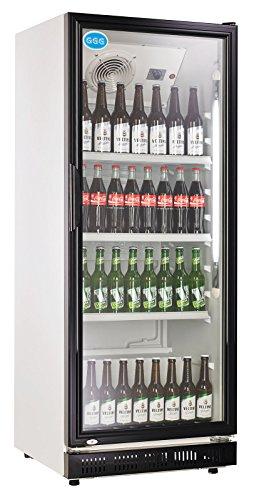 wDesigns Frigorífico para botellas con puerta de cristal, 310 litros, 620 x 635 x...