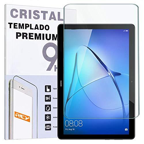 REY Protector de Pantalla para Huawei MEDIAPAD T5 10.1', Cristal Vidrio Templado...