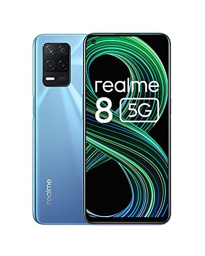 realme 8 5G Smartphone Libre, Procesador Dimensity 700 5G, Pantalla Ultra Smooth de...