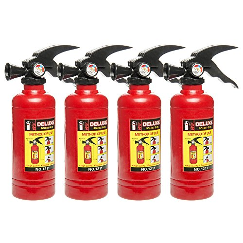 Schramm® 4 Piezas Pistola de Agua Extintor de Fuego Aprox. 18x5cm Pistola de Agua...
