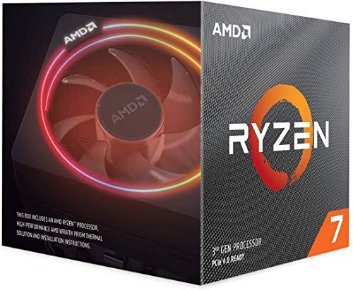 AMD Ryzen 7 3700X, Procesador con Disipador de Calor Wraith Prism (36 MB, 8 Núcleos,...