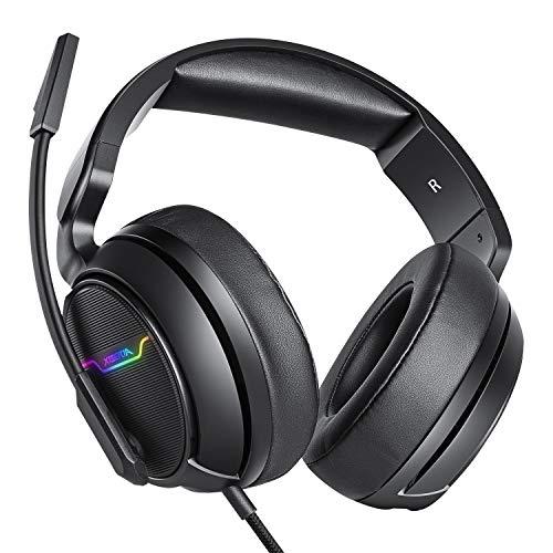 XIBERIA-Auriculares para Xbox One, PS4, Auriculares para Juegos, Auriculares estéreo...