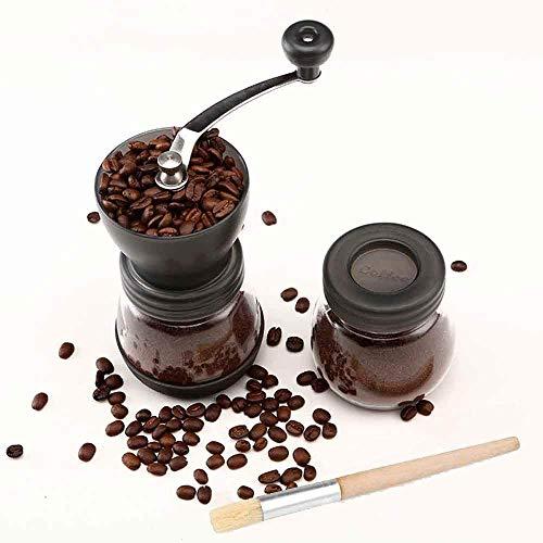 Cooko Molinillo de Café Manual, De Acero Inoxidable con Moledores Ajustable de...