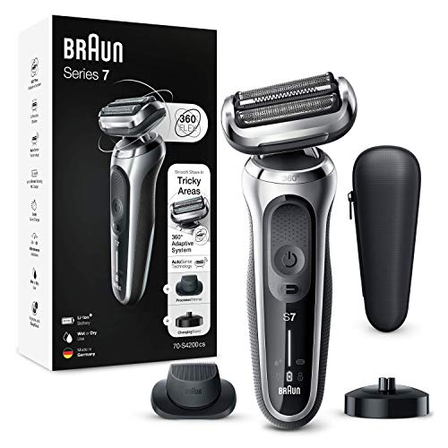 Braun Series 7 Afeitadora Eléctrica Hombre, Máquina de Afeitar Barba de Láminas...