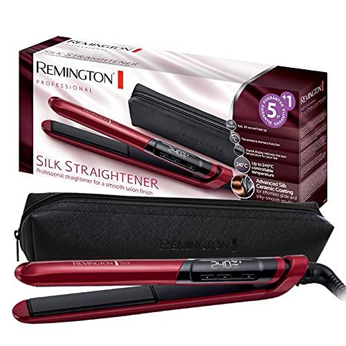 Remington Silk Plancha de Pelo - Cerámica, Digital, Placas Flotantes Extralargas,...