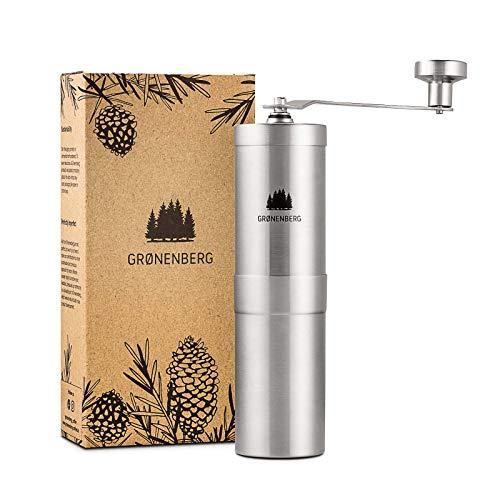 Groenenberg Molinillo de café manual   Manual Coffee Grinder en acero inoxidable  ...
