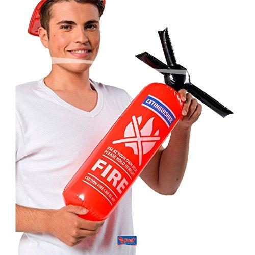 Folat- Extintor de Fuego Inflable de la Brigada de incendios-60 cm, Color rojo...