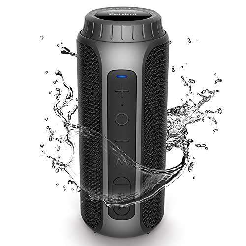 Zamkol Altavoz Bluetooth Potente 30W, Sonido Estéreo, Impermeable IPX6, Altavoz...